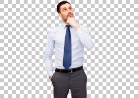 思想家思想,有思想的人,男士蓝色领带PNG剪贴画T恤,蓝色,白色,图