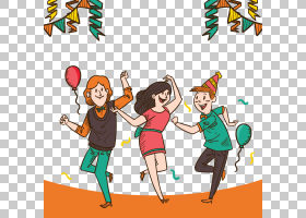 舞蹈计算机文件,手绘年轻男子跳舞PNG剪贴画水彩画,丝带,其他,手,