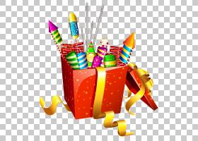 莫斯科标准烟花新年爆竹,红色礼物盒与烟花,火饼干盒PNG剪贴画cdr图片