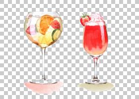 葡萄酒鸡尾酒鸡尾酒装饰酒杯,手,画鸡尾酒PNG剪贴画水彩画,玻璃,