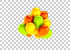 飞行气球黄色,气球PNG剪贴画食品,假期,橙色,电脑壁纸,水果,气体