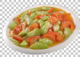 素食Luffa蔬菜,柿子炒丝瓜PNG剪贴画食品,食谱,摄影,番茄,餐饮,甜