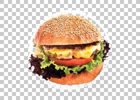 芝士汉堡汉堡早餐三明治Whopper鸡肉三明治,肉PNG剪贴画食品,食谱