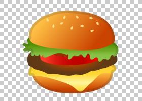 芝士汉堡汉堡表情符号谷歌,汉堡包,汉堡PNG剪贴画食品,奶酪,橙色,