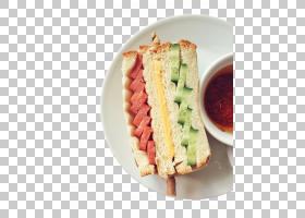 早餐三明治火腿BLT吐司,早餐三明治PNG剪贴画食品,烘焙,食谱,早餐