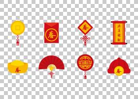 中国新年,热庆祝中国新年元素PNG剪贴画假期,中式风格,新年,中国,