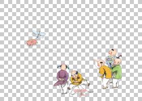 中国清明春芬风筝中国传统节日,儿童放风筝PNG剪贴画儿童,脊椎动