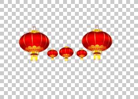 元宵春节u5927u7d05u71c8u7c60,中国新年装饰品创意PNG剪贴画节日