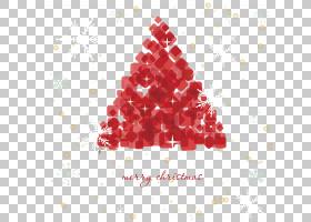 圣诞老人圣诞树欧几里德,圣诞树抽象元素PNG剪贴画摄影,三角形,节