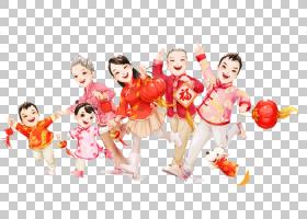 庆祝中国农历新年中国传统节日农历新年,中国新年象征统一PNG剪贴