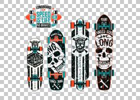 滑板印刷长板头骨,滑板头骨打印PNG剪贴画时尚,海报,版画,运动器