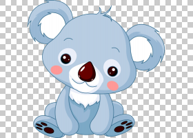 Baby Koala Bear,蓝熊PNG剪贴画蓝色,儿童,哺乳动物,动物,carnivo