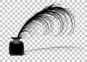 纸羽毛笔墨水瓶,墨水PNG剪贴画墨水,动物,笔,油漆,羽毛,钢笔,睫毛