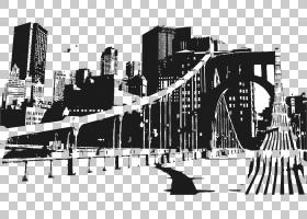 纽约城市天际线城市景观,建筑轮廓PNG剪贴画动物,城市,摩天大楼,图片