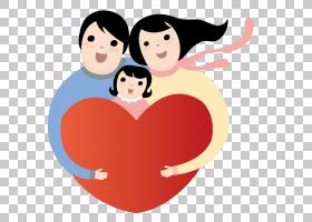 动画片孩子,拿着红色爱恋的家庭PNG clipart爱,漫画,心,人,友谊,
