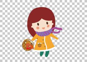 动画片花,愉快的小女孩PNG clipart杂项,儿童,食品,时尚女孩,枫叶图片