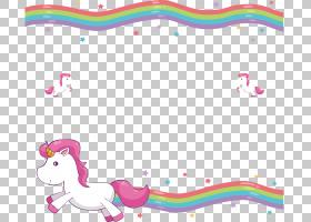 独角兽毯子婚礼邀请可爱,可爱彩虹装饰边框,独角兽PNG剪贴画白色,