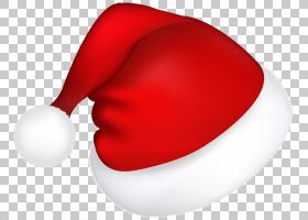 圣诞老人圣诞节糖果,大红色圣诞老人帽子,红色和白色圣诞老人帽子
