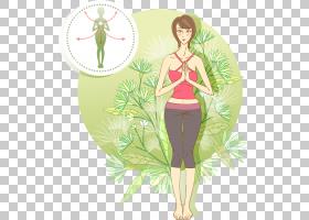 瑜伽,瑜伽女孩PNG剪贴画时尚女孩,海报,虚构人物,花卉,女人,体育,