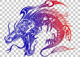 龙纹身,日本龙图腾PNG剪贴画紫色,龙,摄影,日本食品,生日快乐矢量