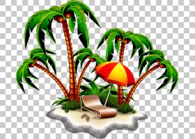 皇室,手绘海滩度假村PNG剪贴画水彩画,海滩,食品,生日快乐矢量图