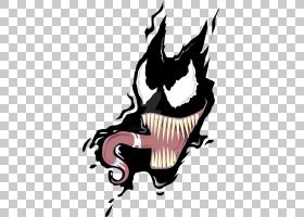 蜘蛛侠毒液Symbiote,毒液面部的PNG剪贴画虚构人物,共生,艺术,毒