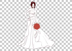 新娘婚纱礼服,婚礼鲜花新娘PNG剪贴画白色,婚礼,时尚,生日快乐矢