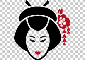 日本欧几里德图标,日本PNG剪贴画脸,笑脸,头,虚构人物,封装PostSc