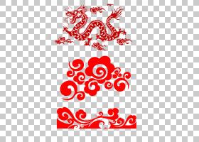 龙,中国风模式PNG剪贴画爱,文本,中国风格,心,徽标,几何图案,花卉