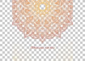 装饰阿拉伯文蔓藤花纹欧几里德,鲜花背景,棕色花卉壁画PNG剪贴画