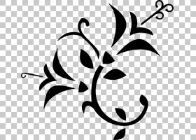 鲜花花束,花PNG剪贴画叶,分支机构,单色,人造花,植物茎,百合,花,