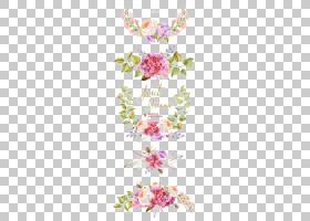 鲜花花束水彩画婚礼邀请,水彩花边框,粉红色和紫色的花朵PNG剪贴