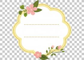 花艺设计插画家,粉红色的桃花装饰框架PNG剪贴画框架,插花,金色框图片