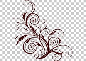 花艺设计装饰花,花卉图案PNG剪贴画叶,摄影,单色,壁画,版税,单色