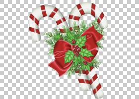糖果手杖圣诞节装饰,透明圣诞节棒棒糖与槲寄生,圣诞节棒棒糖PNG