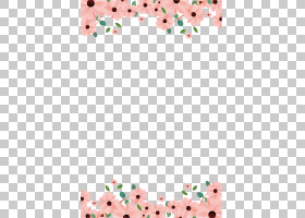 纸婚礼邀请花绘画,手,画花边框,粉红色的花朵在蓝色背景PNG剪贴画