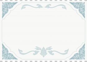 艺术版税,蓝色和白色证书模板,灰色花卉背景PNG剪贴画边框,蓝色,
