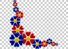 花,花边框线设计PNG剪贴画对称性,花卉,免版税,艺术,点,粉红色的