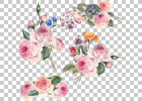 花卉设计,手,画花,粉红色的花朵PNG剪贴画水彩画,插花,人造花,婚