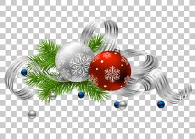 圣诞节装饰圣诞节装饰品圣诞老人,透明圣诞节装饰,银色和红色中看