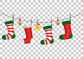 圣诞节装饰圣诞节装饰品圣诞老人,透明圣诞节长袜装饰,圣诞节袜子