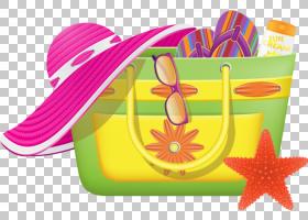 沙滩包,沙滩包的PNG剪贴画摄影,花卉,手提箱,royaltyfree,旅行,手
