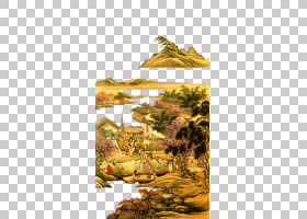 故宫博物馆中国清代宫廷博物馆画集,春夜宴桃花园PNG剪贴画爱情,图片