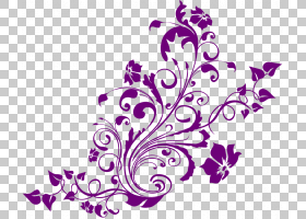 婚礼邀请绿松石紫色,酷设计透明背景,紫色花卉PNG剪贴画紫色,花,