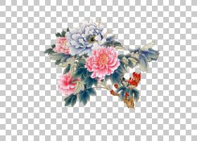 牡丹牡丹工笔,牡丹PNG剪贴画水彩画,插花,中国风,气氛,人造花,山