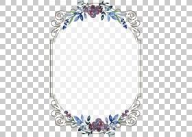 婚礼邀请菜单模板,复古花卉边框,空花框PNG剪贴画边框,紫色,框架,
