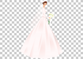 婚纱礼服鸡尾酒礼服新娘花姑娘,新娘新娘PNG剪贴画简单,人,婚礼,