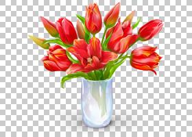 生日蛋糕礼物党情人节,绘画郁金香PNG剪贴画水彩画,插花,人造花,