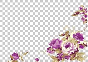 祝你生日快乐牡丹牡丹花艺设计,牡丹画PNG剪贴画水彩画,紫色,模板