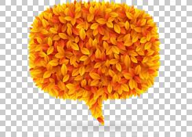 秋叶叶子,秋叶讲话泡泡标签PNG剪贴画水彩叶子,标签,橙色,向日葵,